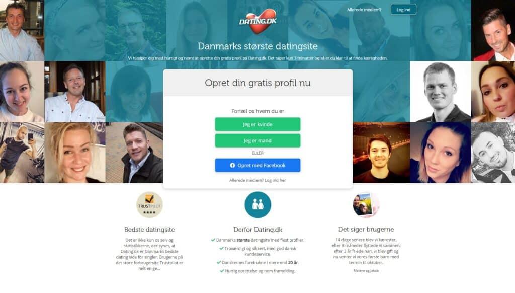 Dating.dk - Oversigt over sider til netdating