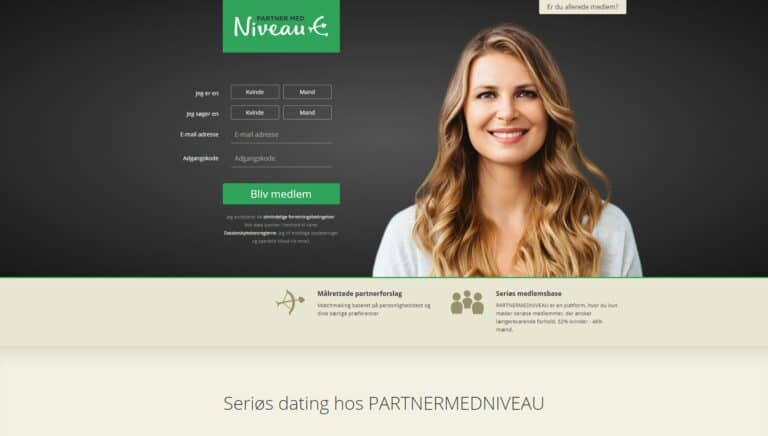 PartnerMedNiveau - Seriøs datingside